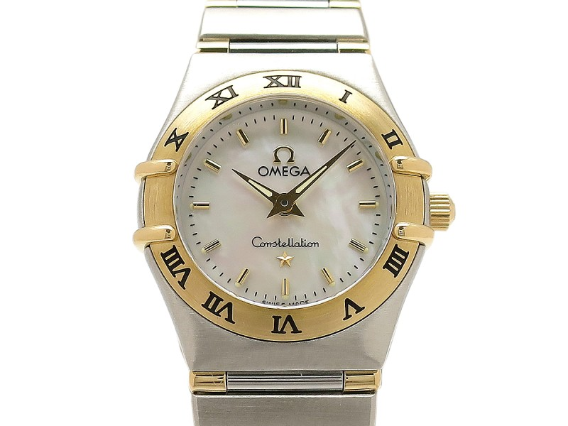 Omega Constellation Mini 1362-70 18k Yellow Gold/Stainless Steel 22mm Womens Watch
