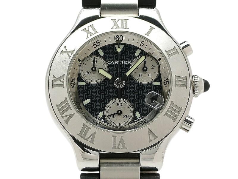 Cartier Chronoscraph W10125U2 38mm Mens Watch