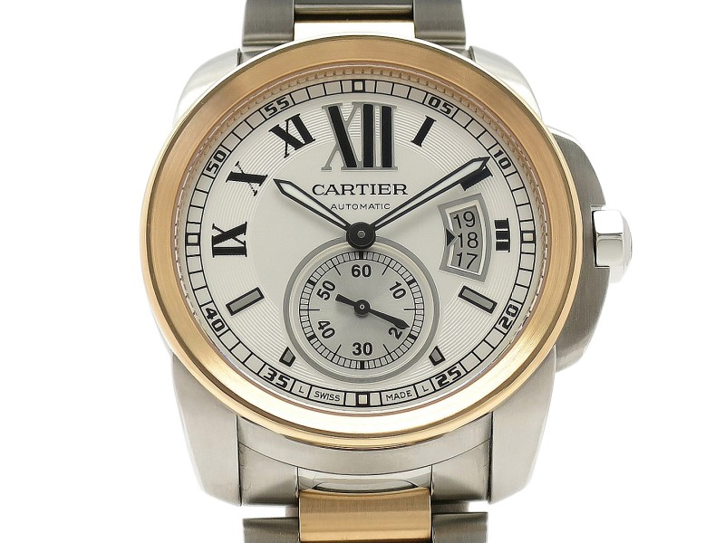 Cartier Calibre De Cartier W7100036 18k Rose Gold/Stainless Steel 42mm Mens Watch