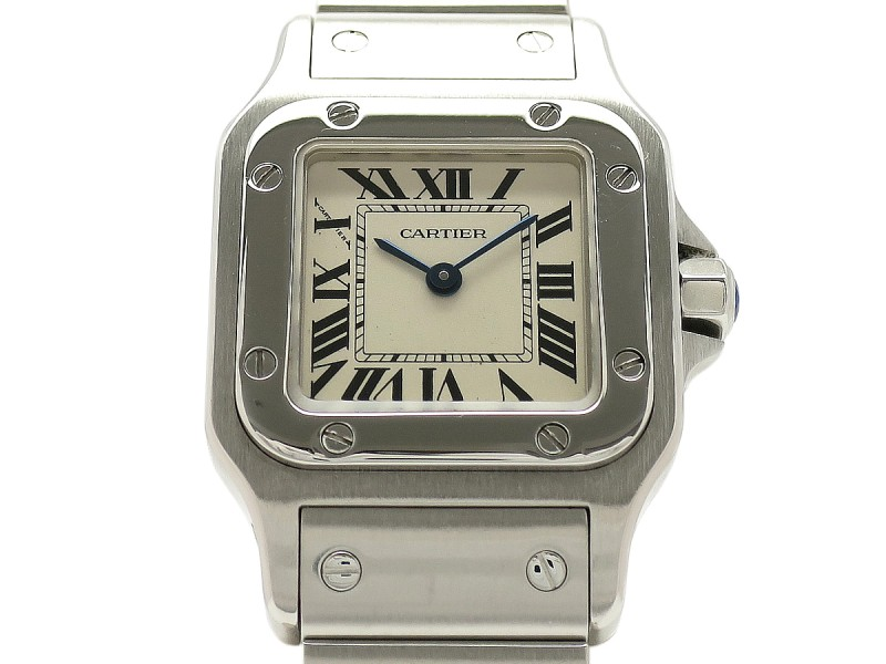 Cartier Santos Garve W20056D6 Stainless Steel 23mm x 23mm Womens Watch