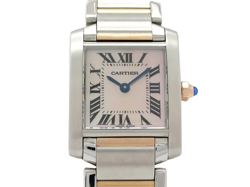 Cartier Tank Francaise W51027Q4 18k Rose Gold/Stainless Steel 25mm x 20mm Womens Watch