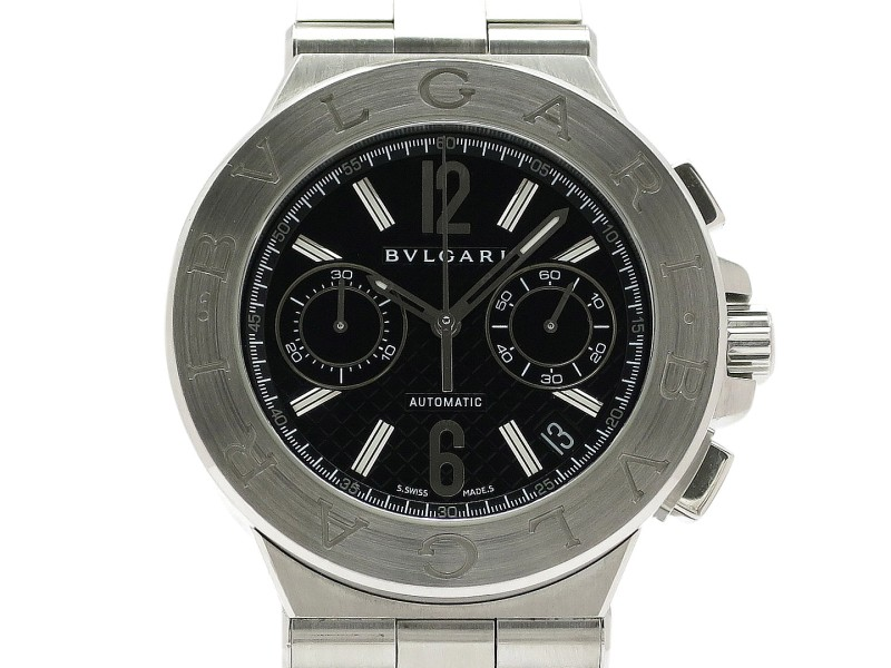 Bulgari Diagono Chronograph Automatic DG40BSSDCH Stainless Steel 40mm Mens Watch