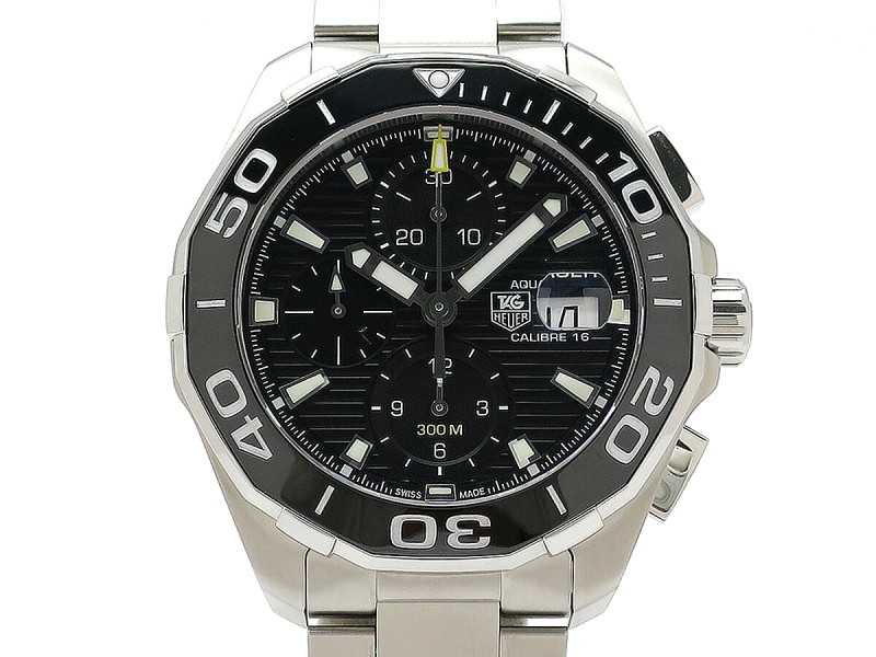 Tag Heuer Aquaracer Chronograph Caliber16 ceramic CAY211A-0 43mm Mens Watch