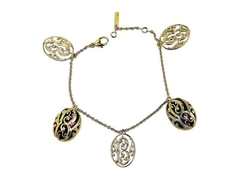 Baccarat Vermeil Sterling Silver Pink Mordore Bracelet
