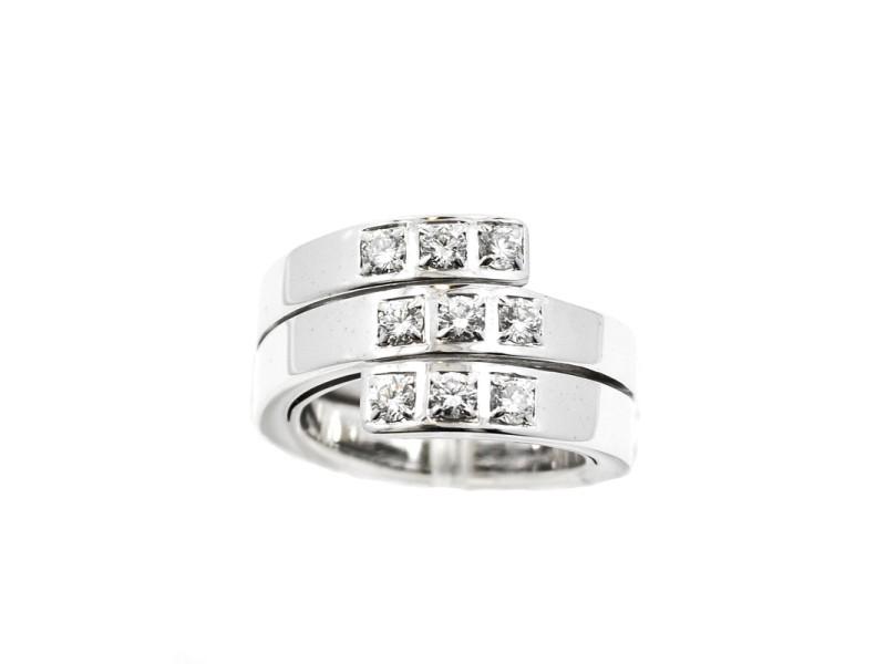 Cartier Paris Nouvelle Vague 18K White Gold & Diamond Twirl Ring