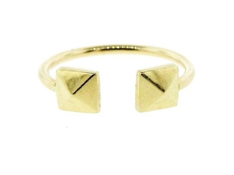 14K Yellow Gold Pyramid Ring