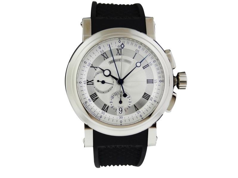 Breguet Marine Chronograph 5827bb/12/5zu 18k White Gold 42mm Watch