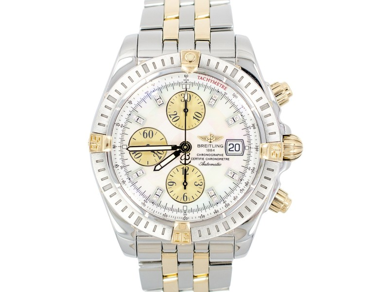 Breitling B13356 Chronograph Evolution Diamond Stick 18K gold Men's Watch