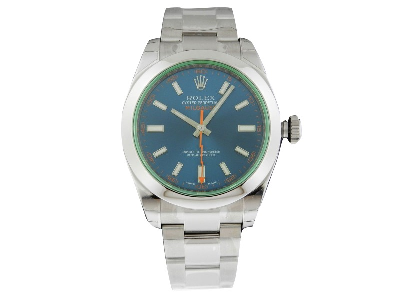 Rolex Milgauss 116400GV 40mm Stainless Steel Blue Dial Watch