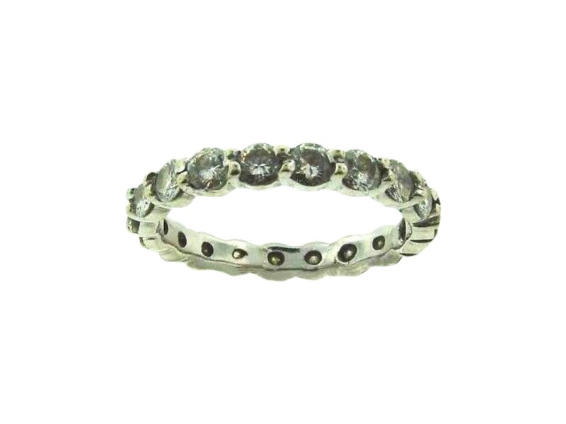 14K White Gold Diamond Eternity Band Ring