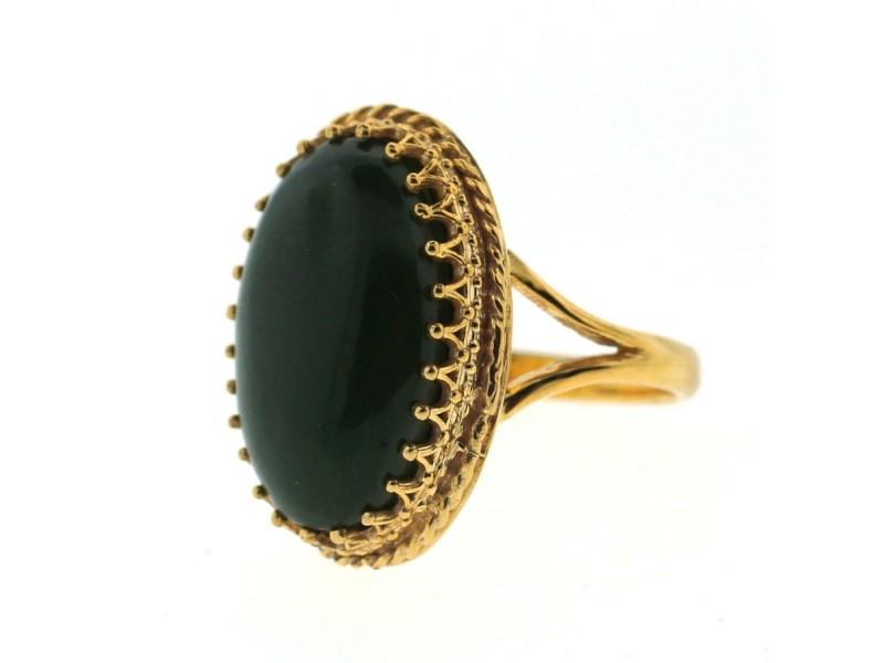14K Yellow Gold & Jade Ring