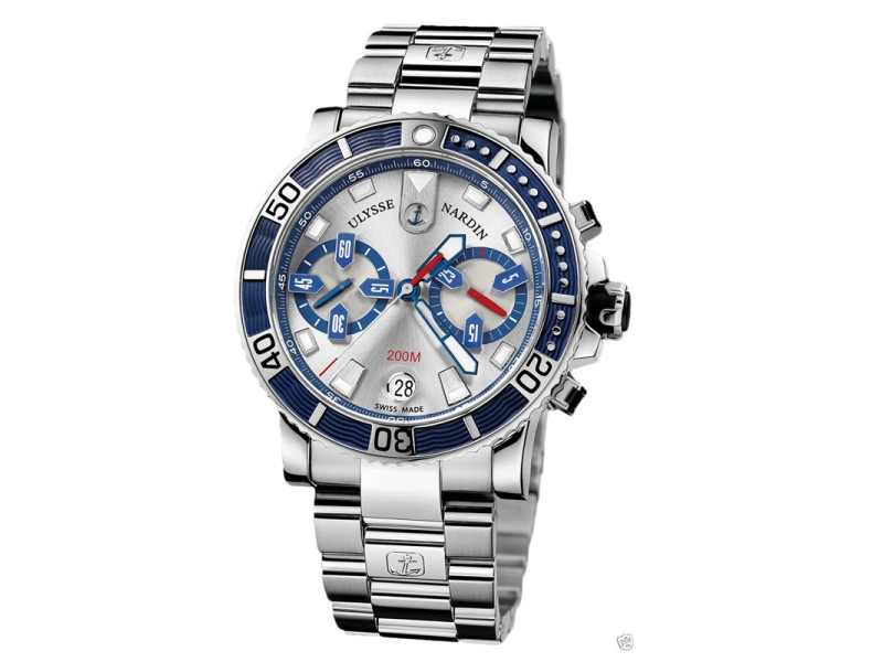 Ulysse Nardin Maxi Marine Diver Chronograph 8003-102-7/91 Stainless Steel Watch