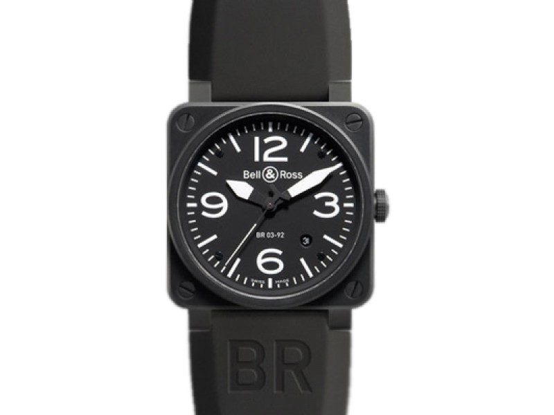 Bell & Ross Instrument Stainless Steel BR-03-92 Carbon Watch