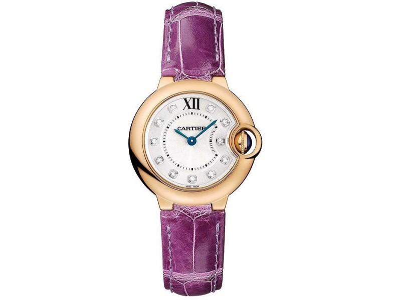 Cartier Ballon Bleu 28mm WE902050 18KT Rose Gold Quartz Diamond Watch