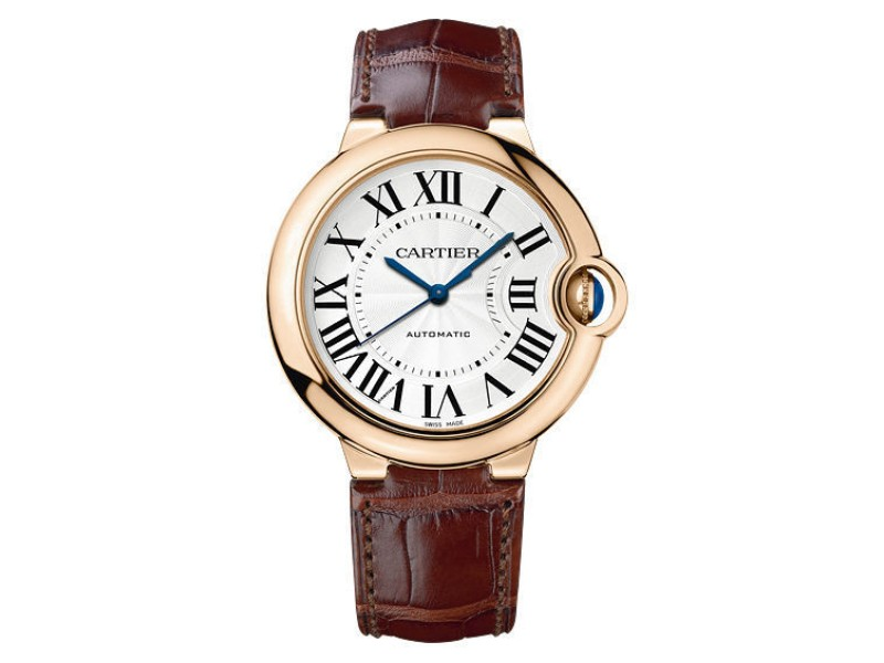 Cartier Ballon Bleu W6900456 18K Rose Gold Automatic 36mm Watch