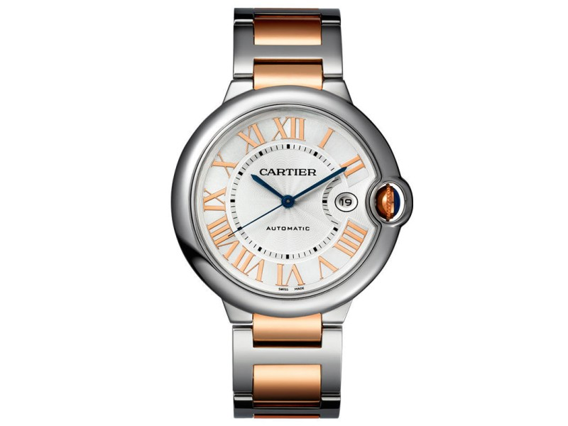 Cartier Ballon Bleu 42mm W6920095 Stainless Steel & Rose Gold Watch
