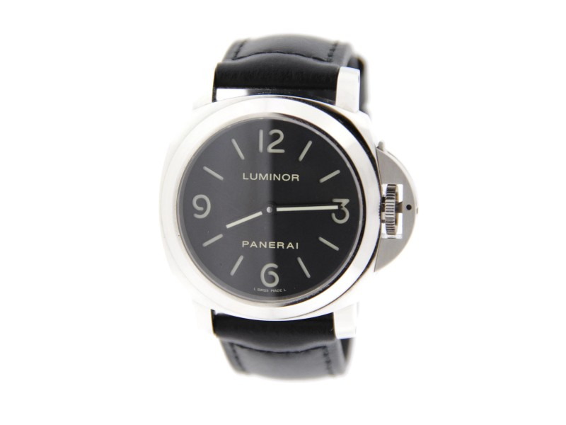 Panerai PAM002 Luminor Manual Wind Stainless Steel Watch