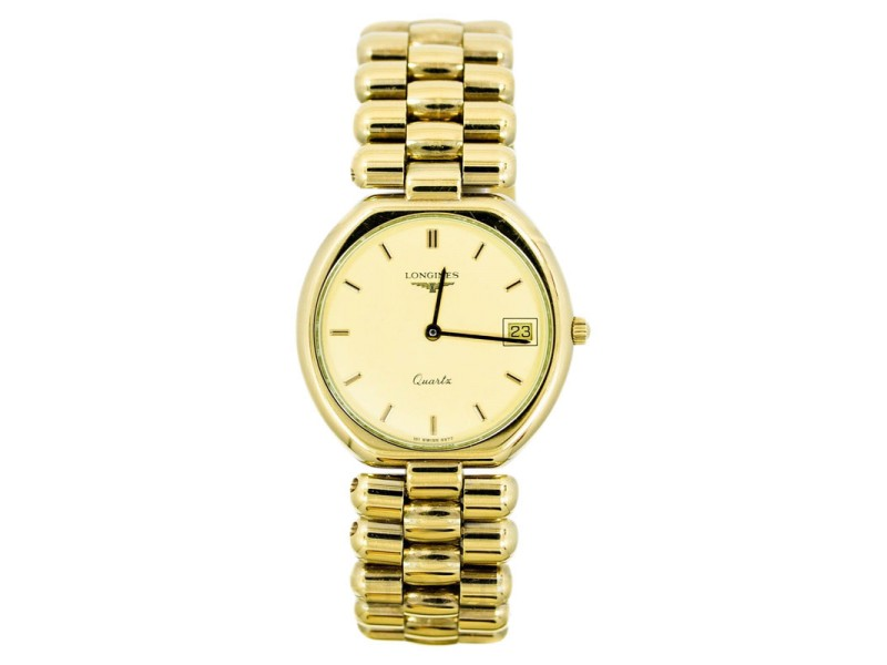 Longines Date Gold Tone Stainless Steel Quartz Ladies Watch