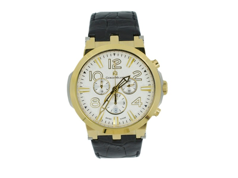 Giorgio Milano Marino 956STG022 Chronograph Stainless Steel IP Gold Quartz Mens