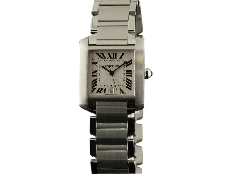 Cartier Tank Francaise W51002Q3 Steel Silver Dial Automatic Watch