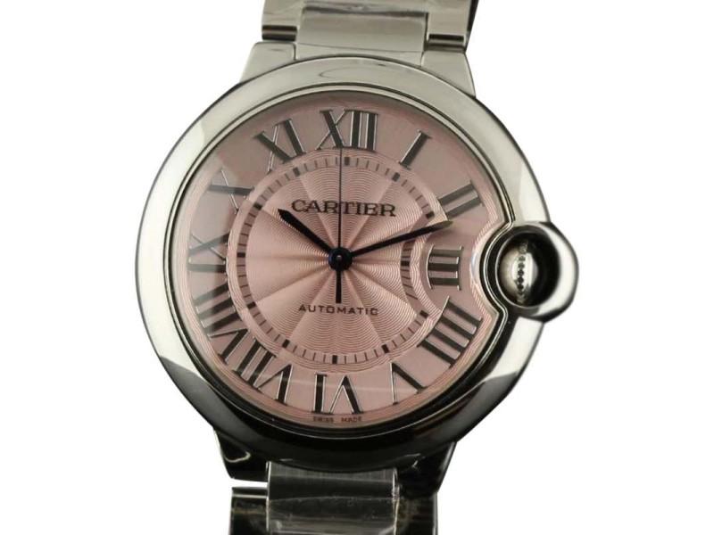 Cartier W6920041 CA16 Ballon Bleu 36mm Pink Steel Automatic Womens Watch