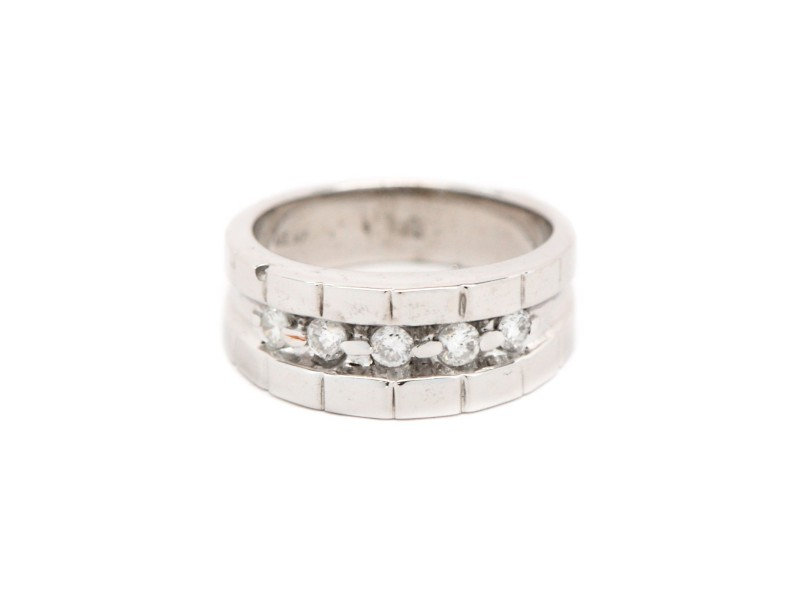 14K White Gold 0.35ct. Diamond Brick Style Ring