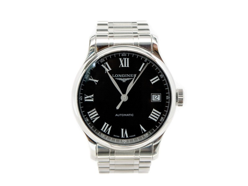 Longines Master Collection L.2.689.4 Black Dial Date Skeleton Automatic Men's Watch