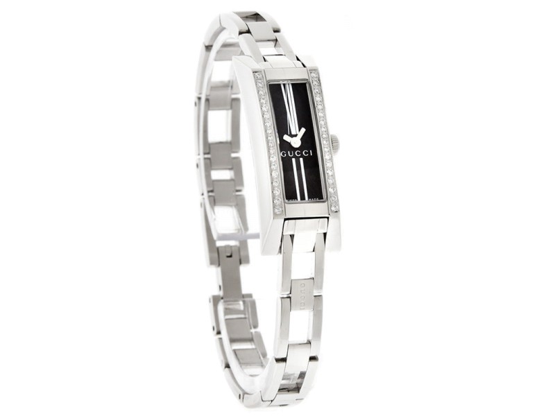Gucci YA110509 G-Link Diamond Stainless Steel Womens Watch