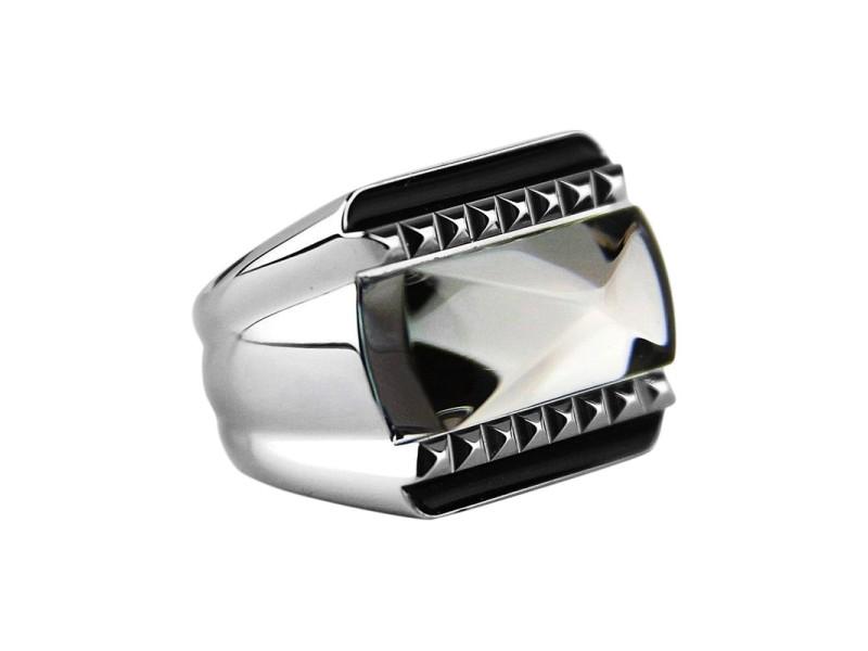 Baccarat Louxor Sterling Silver Mist Mirror Ring Sz 7