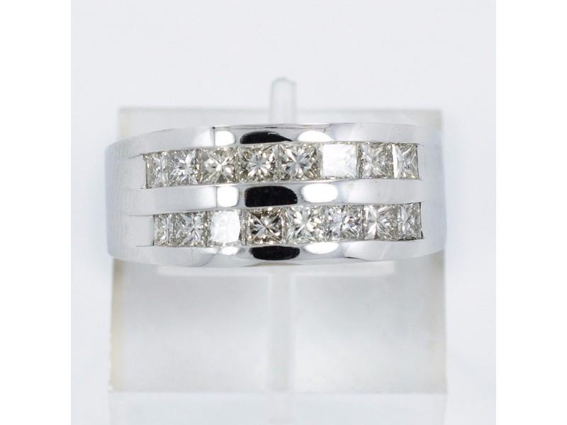 White White Gold Diamond Womens Ring Size 11