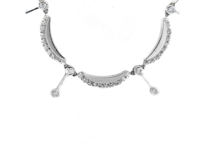 White White Gold Diamond Necklace