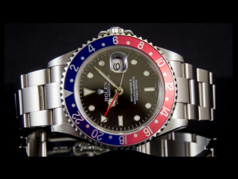 Rare Rolex GMT Master II Pepsi Bezel 40mm Watch