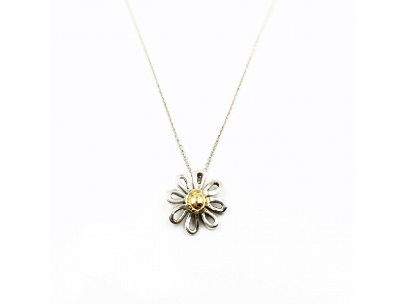 Tiffany & Co. 18K Yellow Gold & Sterling Silver Daisy Necklace