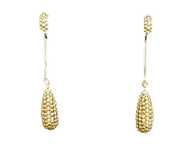 H. Stern 18K Yellow Gold Brazilian Made Earrings