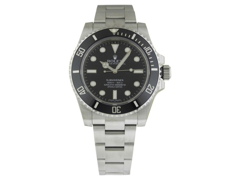Rolex Submariner 114060 Ceramic Bezel Black Dial 40mm Watch