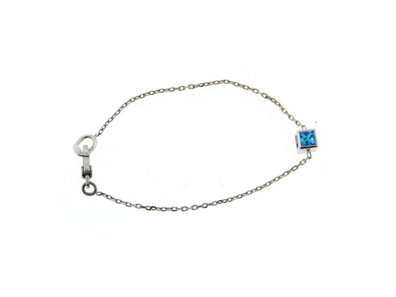 Gucci Aquamarine 18K White Gold Bracelet