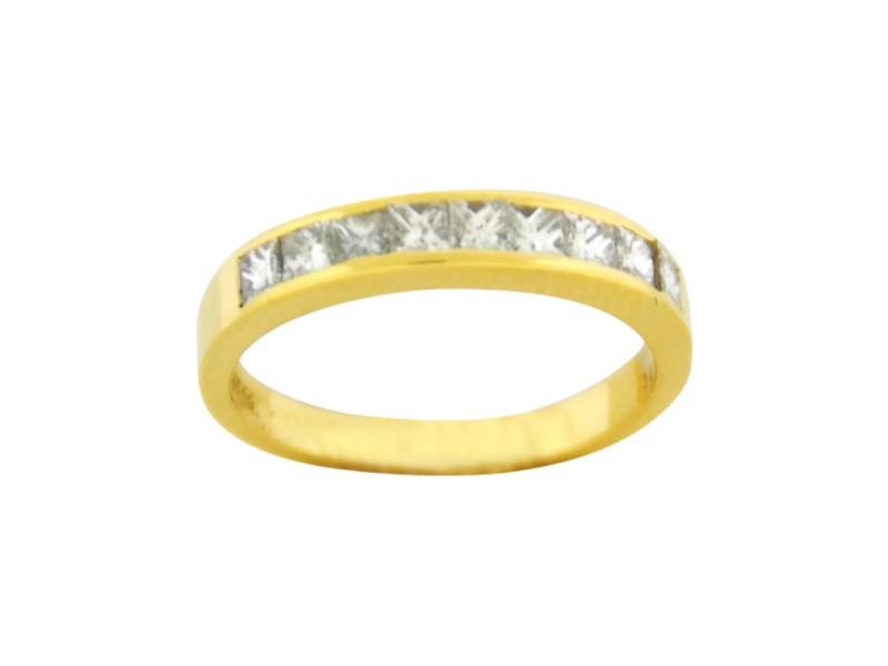 Tiffany & Co. Lucida 0.65Ct Diamond 18k Yellow Gold Wedding 4mm Band Size 6 Ring