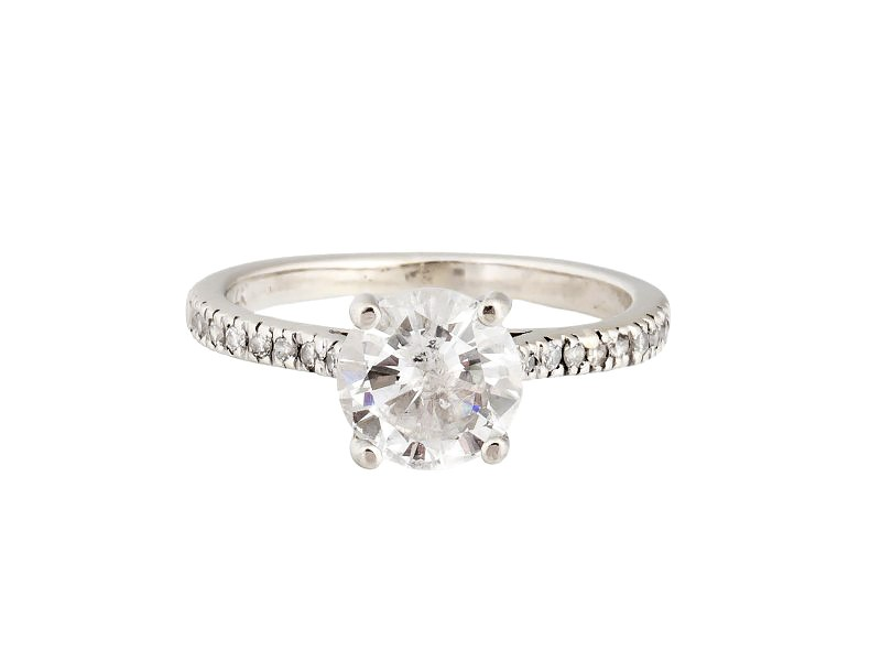 14K White Gold with 1.25ct Diamond Engagement Ring Size 5