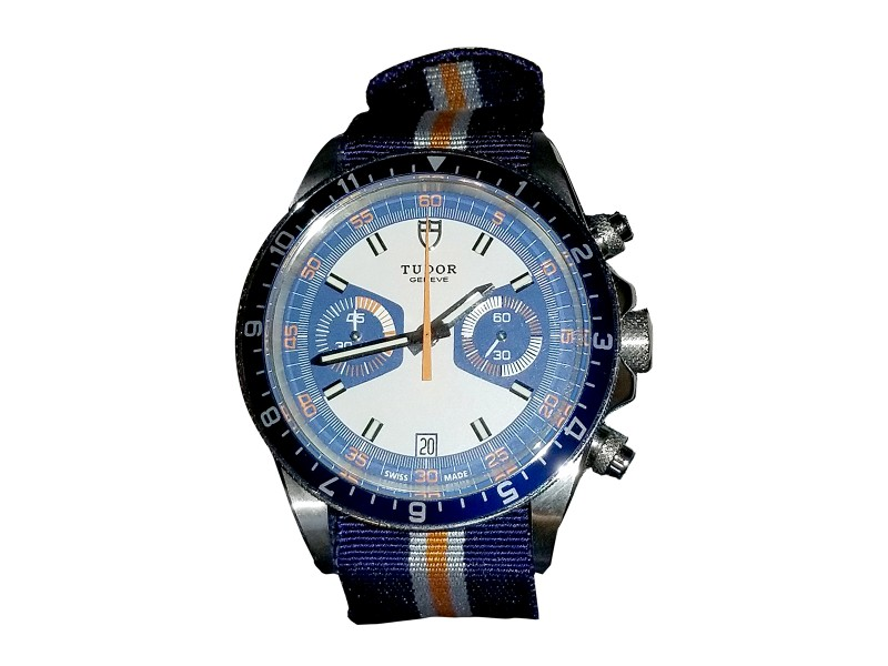 Tudor Heritage Chrono Blue Sapphire & Blue Dial 42mm Mens Watch