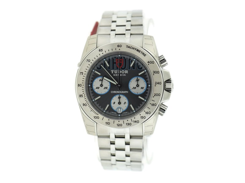 Tudor Sport Chronograph 20300 Grey Dial Stainless Steel 41mm Mens Watch