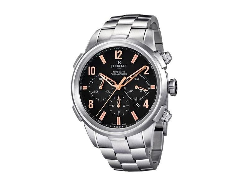 Perrelet Class-T A1069/C Stainless Steel Automatic 44mm Mens Watch