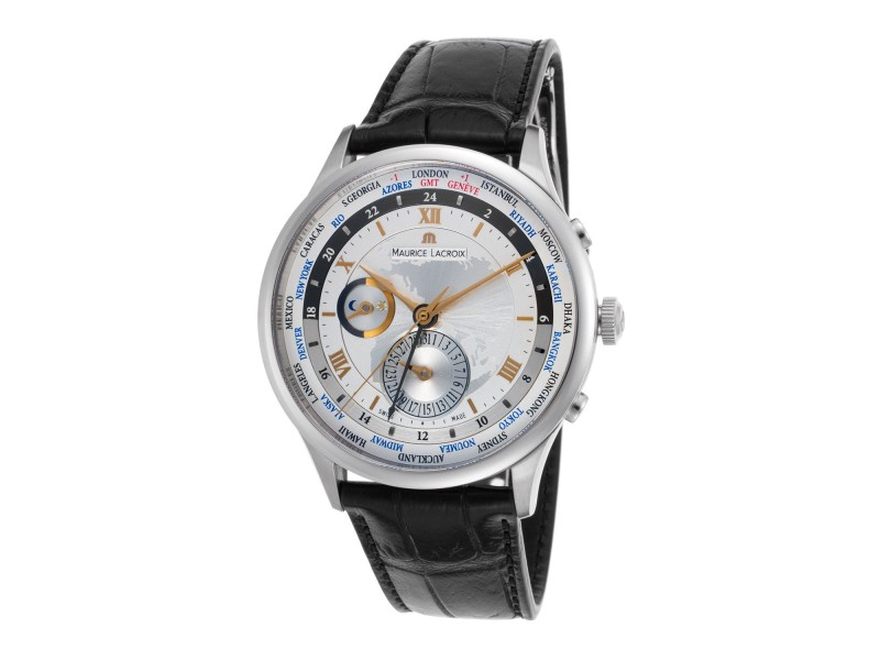Maurice Lacroix MP6008-SS001-110 Stainless Steel 42mm Mens Watch