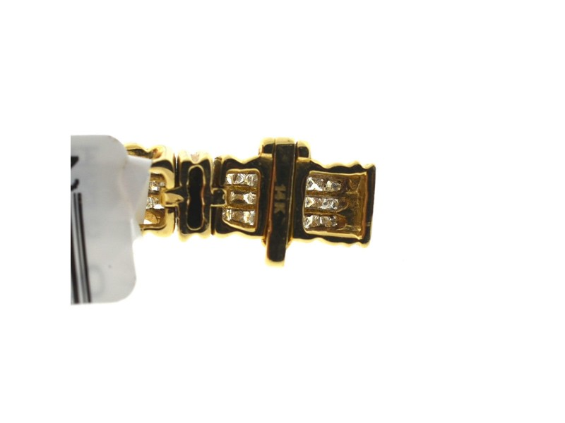 Yellow Gold Diamond Womens Bracelet