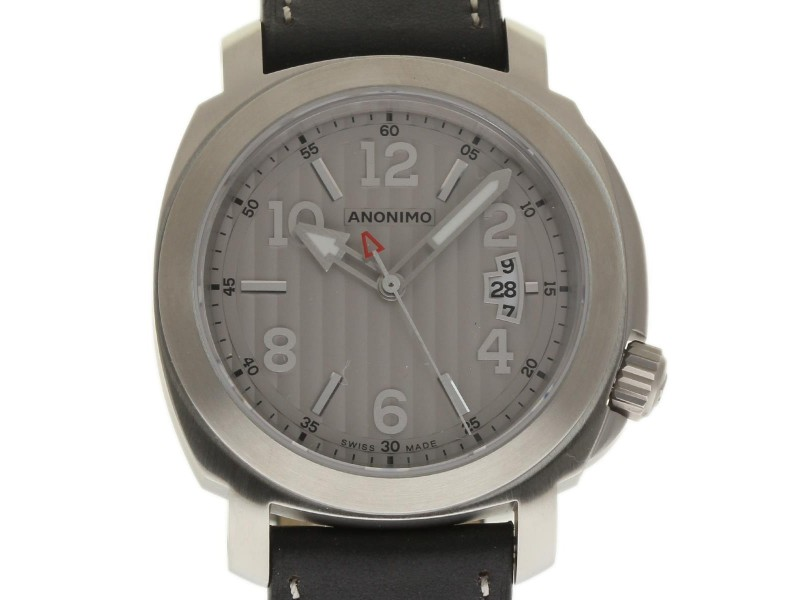 Anonimo Sailor AM200001007A01 Stainless Steel & Leather Automatic 43mm Mens Watch