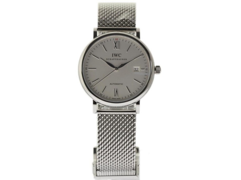 IWC Portofino IW356505 Stainless Steel Silver Dial Automatic 40mm Mens Watch