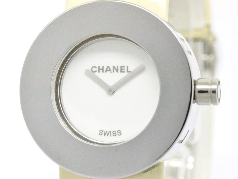 Chanel La Ronde Stainless Steel & Leather Band Quartz 29mm Womens Watch