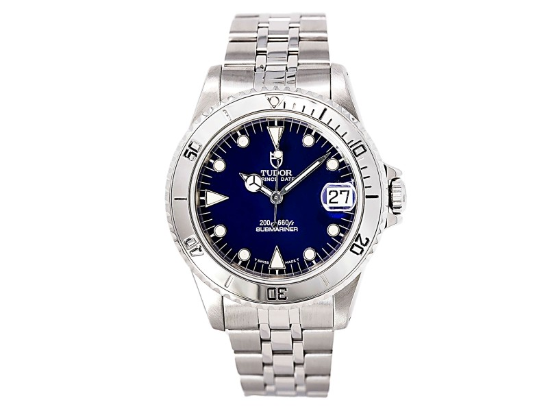 Tudor Prince Date Submariner 75190 Stainless Steel Automatic 36mm Mens Watch