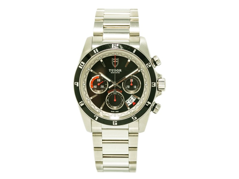 Tudor Grantour 20530 Stainless Steel Automatic 42mm Mens Watch