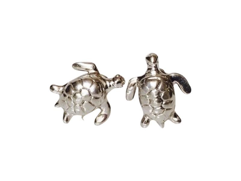 Robin Rotenier 925 Sterling Silver Sea Turtle Cufflinks