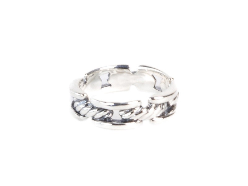 David Yurman 925 Sterling Silver Cable Link  Ring Size 10